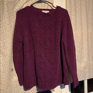 Purple chunky knit sweater